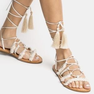 SCHUT Jolina  Leather Wrap Gladiator Sandals + Bag